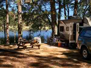 Our campsite at Three Rivers State Park