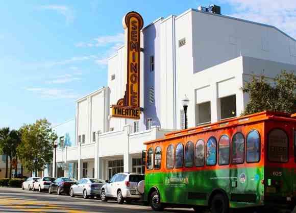 Free trolley in downtown Homestead.