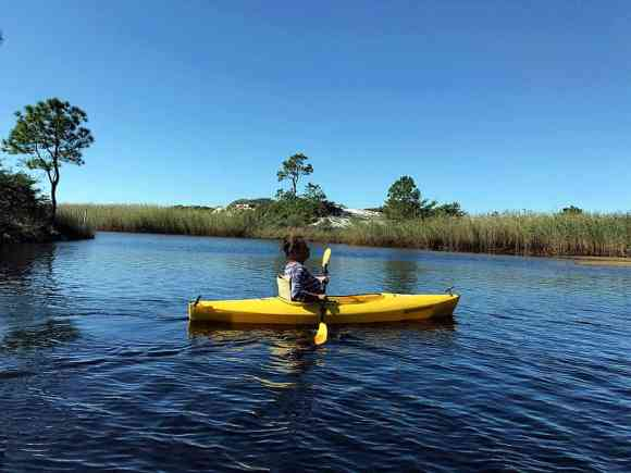 paddle on western lake at Grayton Beach State Park