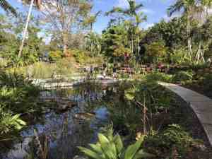 Windows on the Floating World is a tropical wetland garden with waterfalls and aquatic plants. (Photo: Bonnie Gross)