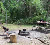 Campsite at Alderman's Ford Park.