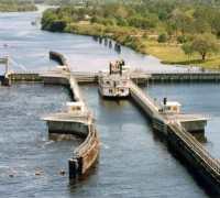 W.P. Franklin Lock on the Okeechobee Waterway