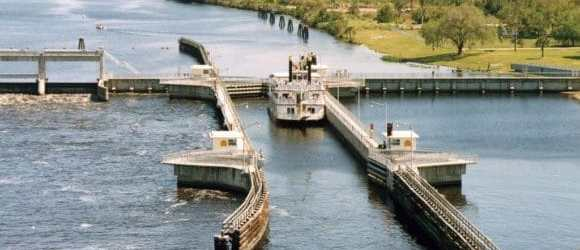 W.P. Franklin Lock on the Okeechobee Waterway