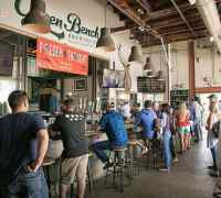 Taproom at Green Bench Brewing in St. Petersburg.