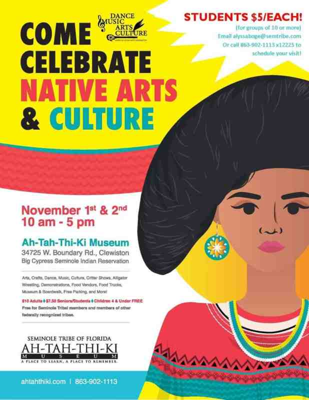 Poster for American Indian Arts Celebration