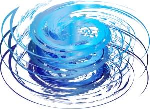 hurricane art blue