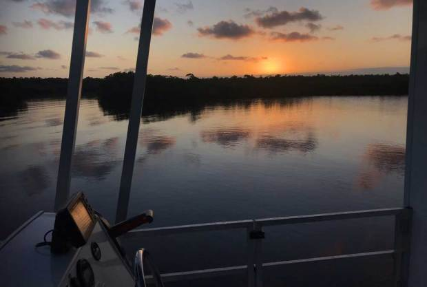 Enjoying the changing light and view was a big part of the pleasure of our houseboat oouting in Everglades National Park (Photo: Bonnie Gross)