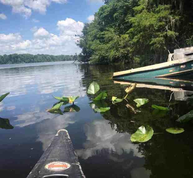 A sunken boat on St. Johns River near Welaka. (Photo: Bonnie Gross)