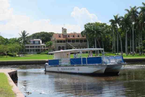 The tour boat at Deering Estate. (Photo: David Blasco)