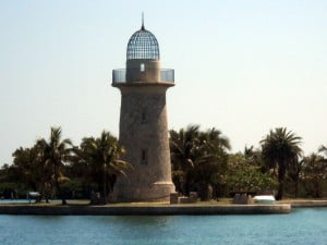 Lighthouse on Boca Chita in Biscayne National Park.