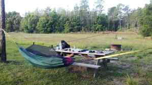 Campsite at Colt Creek State Park