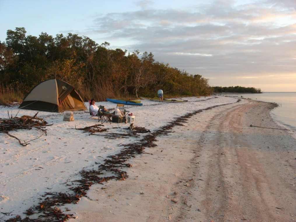 Beach camping in the wild Ten Thousand Islands   Florida Rambler