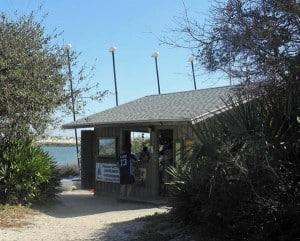 kayak concession at anastasia state park
