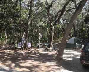 campsite at anastasia state park