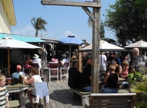 Outdoor seating is plentiful at Archie's