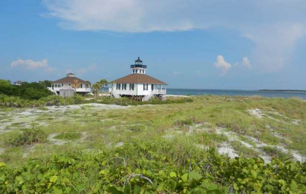 The llighthouse at the end of Boca Grande, a Gulf Coast Florida island.