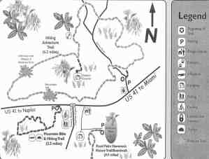 Collier-Seminole State Park trail map