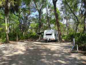 Campsite at Faver-Dykes State Park
