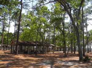 Picnic pavilions at Faver-Dykes State Park.