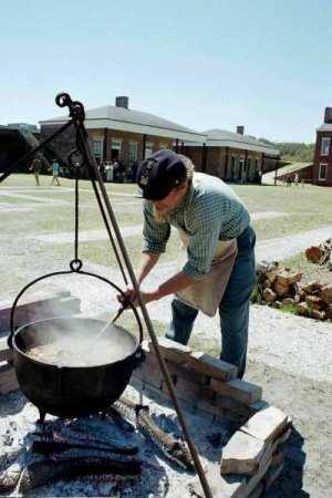 Civil War reenactment at Fort Clinch State Park