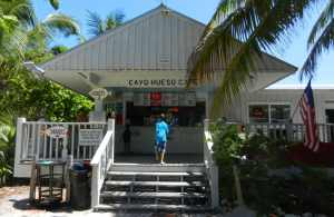 Cayo Hueso Café offers reasonably priced sandwiches, snacks and beverages served on a shaded patio overlooking the beach.