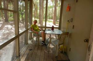 The Hontoon cabins do provide you with a bug-free and dry spot to take respite in the woods.