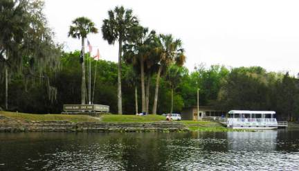 Hontoon Island park as you approach by water