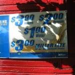 Beer prices at Jimbo's