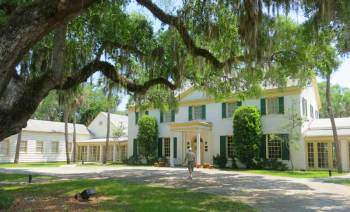 The Ribault Club, near the Kingsley Plantation, represents the 20th century era when millionaires wintered on Fort George Island.