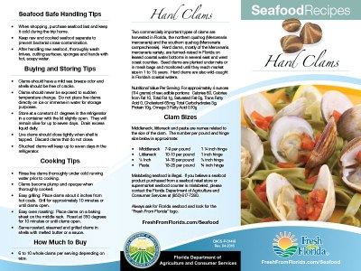 Clams Recipe Brochure