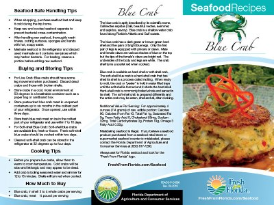 Blue Crab Recipe Brochure