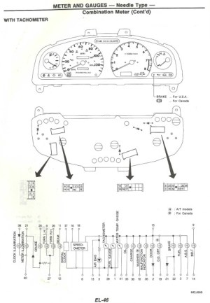 240SX INSTRUMENT CLUSTER WIRING DIAGRAM  Auto Electrical Wiring Diagram