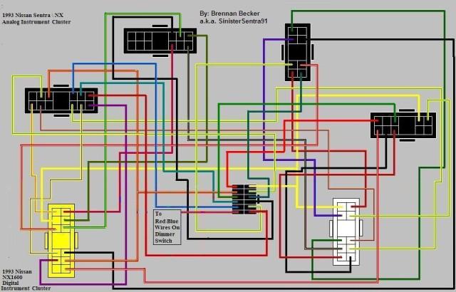 Sr20de Engine Wire Diagram 1993 How To Analog To Digital Cluster 93 94 Se R Nx Sr20 Forum