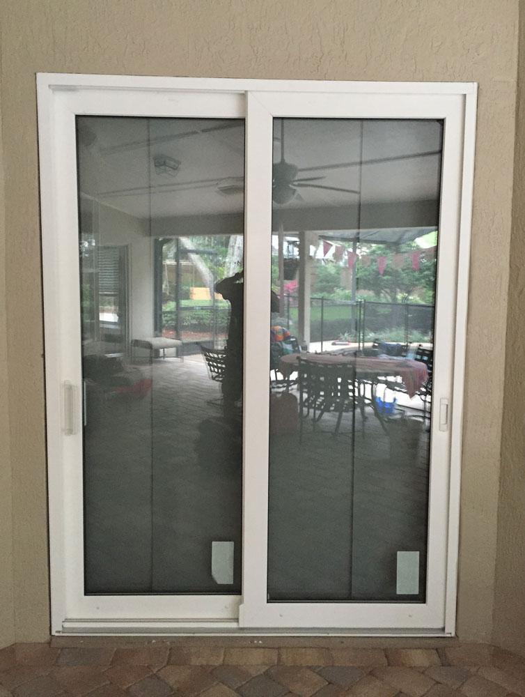 custom sliding door installation in