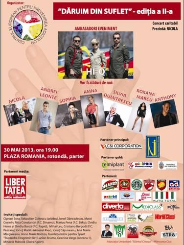 Afis concert caritabil 30 mai 2013