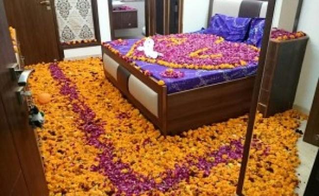 1st Night Bridal Bed Room Decoration For Suhagrat Bedroom