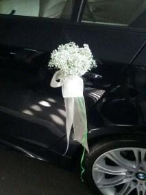 Manilla del coche de novia