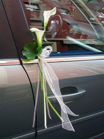 manillas del coche de la novia