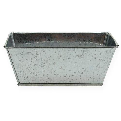 Deko Zinkschale rechteckig Silber 20x11x8cm 8St preiswert