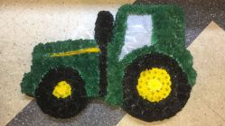 funeral flowers tractor