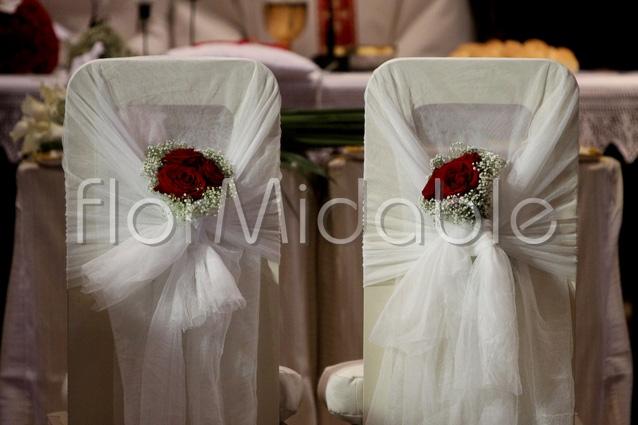 addobbi floreali matrimoni e bouquet sposa con fiori rossi  Flormidable