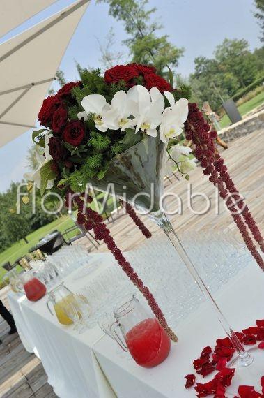 addobbi floreali matrimoni e bouquet sposa con fiori rossi
