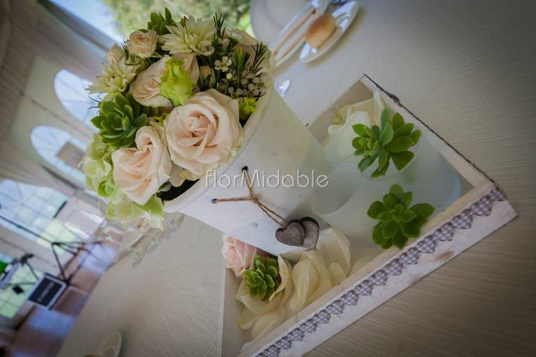 centrotavola matrimonio eleganti romantici moderni shabby  Flormidable