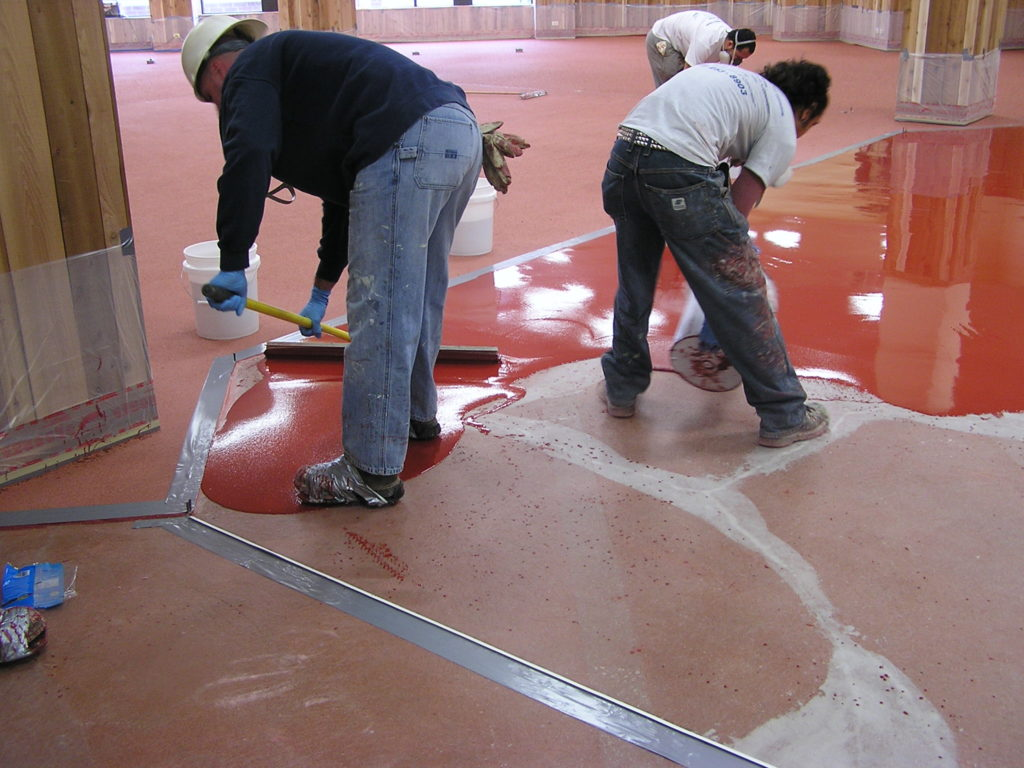 how thick should an epoxy floor coating