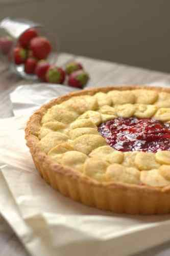 Strawberry Tart with a No Roll Crust