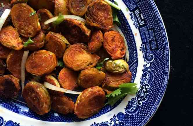 Tandoori Roasted Brussel Sprouts