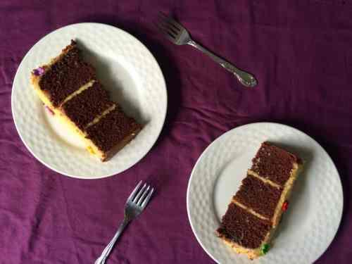Chocolate Malt Cake w Malted Vanilla Butter Cream