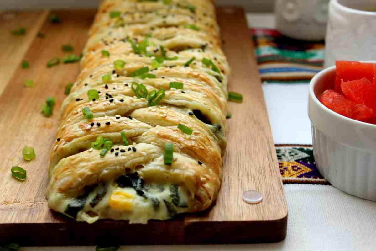 Spinach & Artichoke Puff Pastry Braid