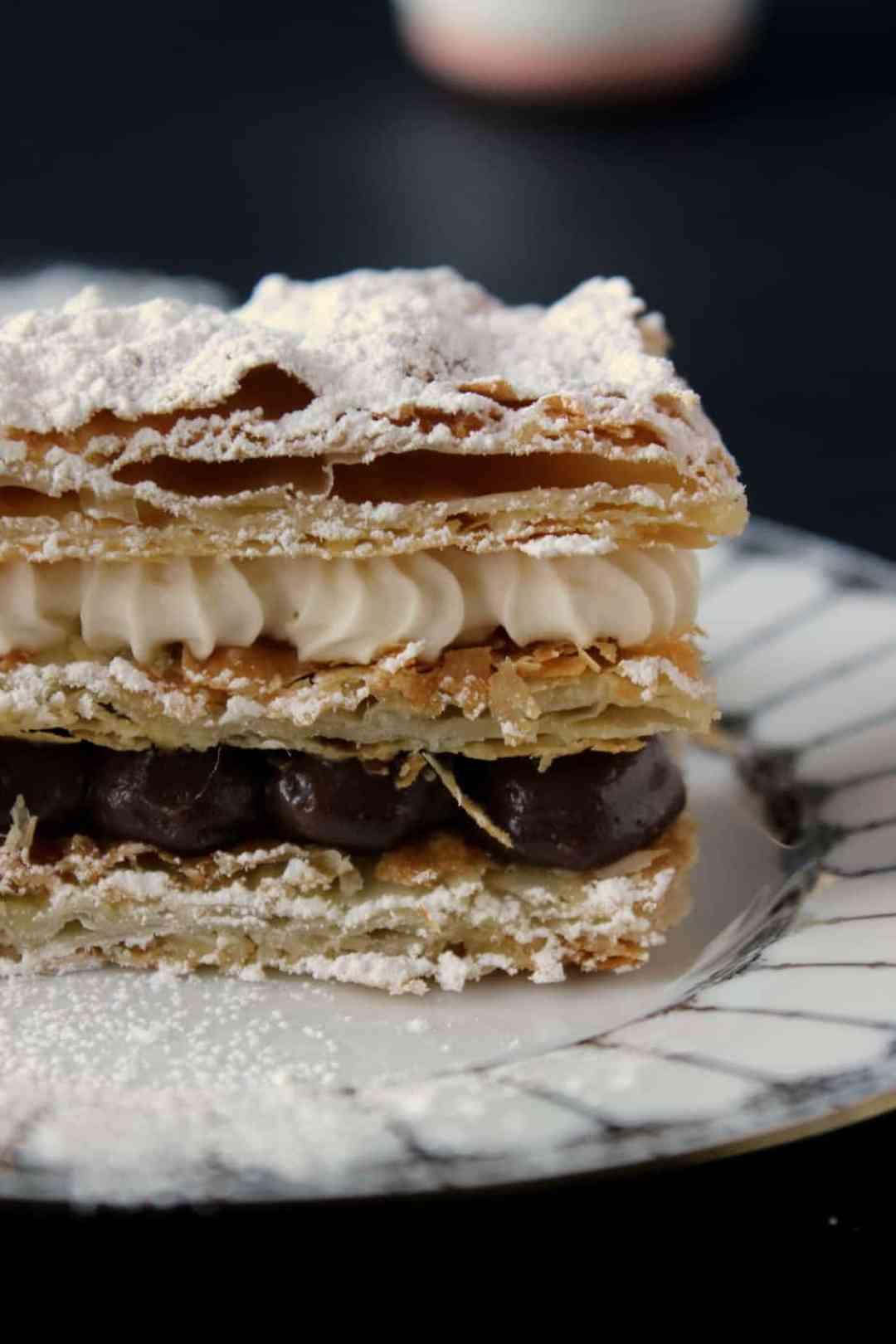 chocolate & cream mille feuille