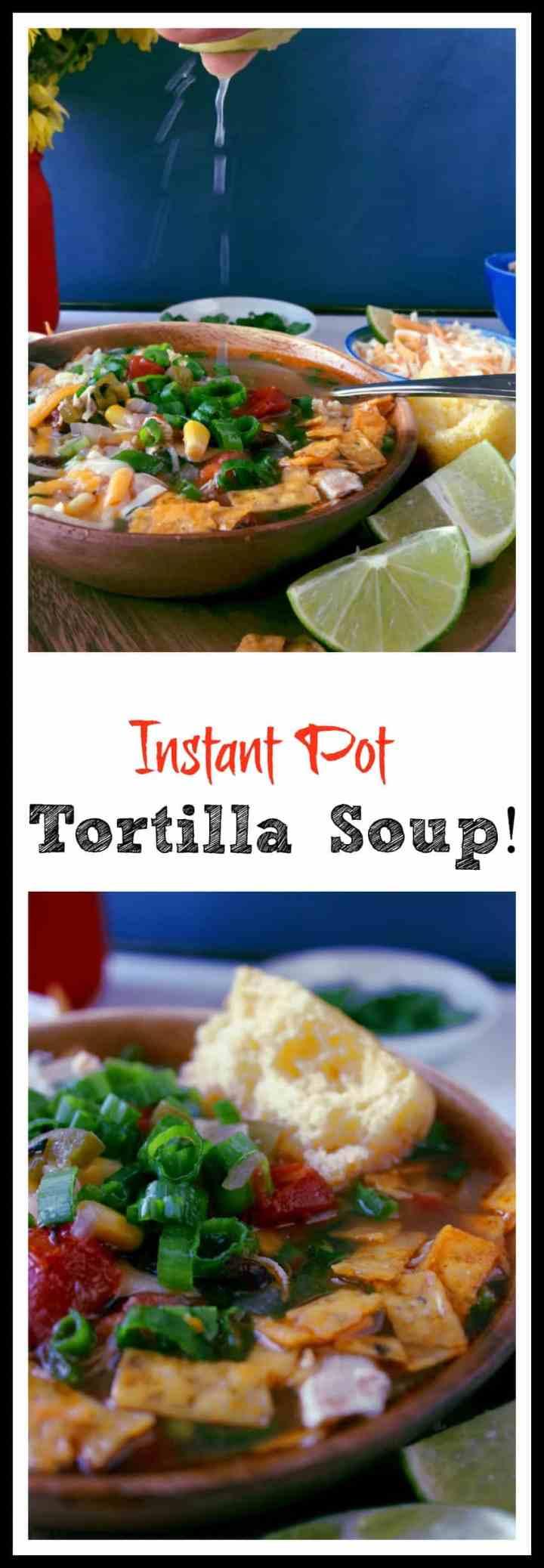 Instant Pot Tortilla Soup